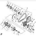 25 - VARIATEUR - EMBRAYAGE HY550 4x4 EFI
