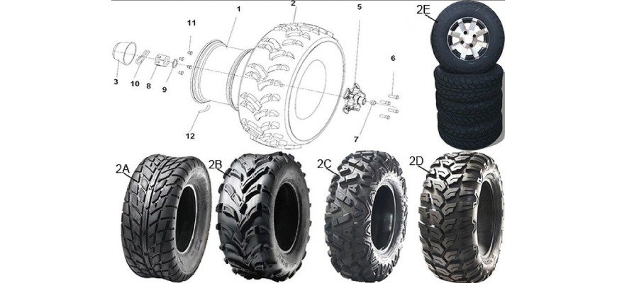 10 - ROUES ARRIERE HY550 4x4 EFI