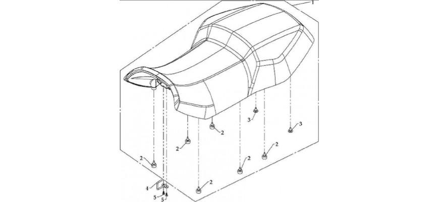 16 - SELLE VERSION DE LUXE EN OPTION HY810 4x4