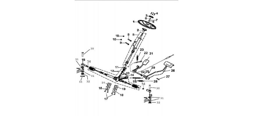5 - COLONNE DE DIRECTION JOBBER 4x2 4x4
