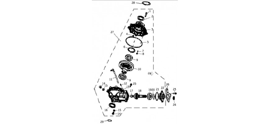 12 - PONT ARRIERE JOBBER 4x2 4x4